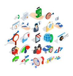 profession icons set isometric style vector image