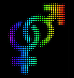 Rainbow colored dot heterosexual symbol icon vector