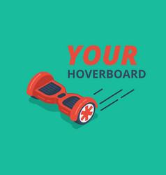 Red color hoverboard vector