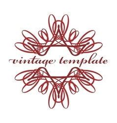 Red vintage curls vector image