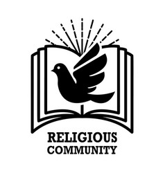 Religious community emblem template with holy vector