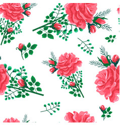 Rose seamless pattern-01 vector