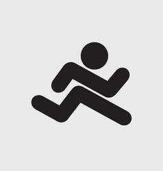 Running icon black symbol vector