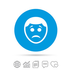 Sad face sign icon sadness symbol vector