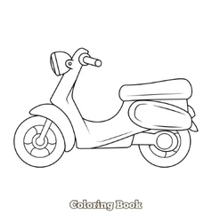 Scooter cartoon coloring book vector image