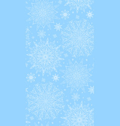 seamless texture with tracery winter snowflakes vector image