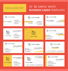 Set of 12 justice creative busienss card template vector
