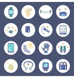 Smart Technology Round Icons Set vector