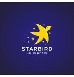 Star Bird Abstract Symbol Icon or Logo vector image