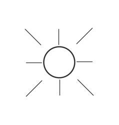summer icon logo template design vector image