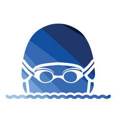swimming man head icon vector image