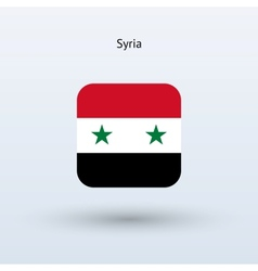 Syria flag icon vector