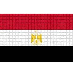 The mosaic flag of Egypt vector