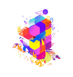 the style abstract art suprematism modern vector image