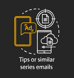 Tips or similar series emails chalk concept icon vector