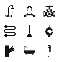 Toilet icons set simple style vector