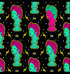 trendy acid seamless pattern with ancient vector image