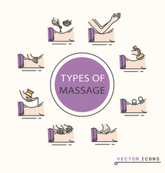 Types of massage vector
