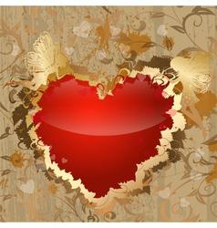 Valentine with fairies vector
