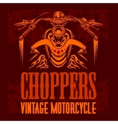 vintage bikers badge Retro chopper bike vector image