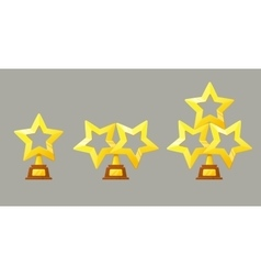 Winner gold cup Trophy star icon vector