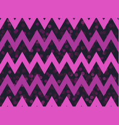 zigzags seamless pattern with dots synthwave vector image