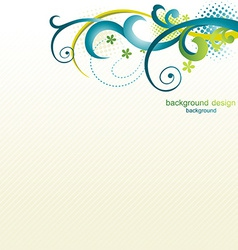 beautiful floral design vector image vector image