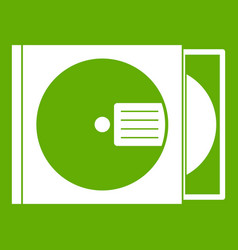 cd box with disc icon green vector image
