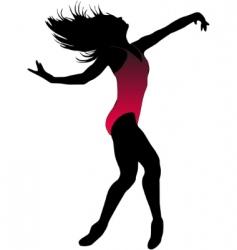 dance girl ballet silhouettes vector image