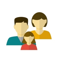 Family Flat Icon vector image