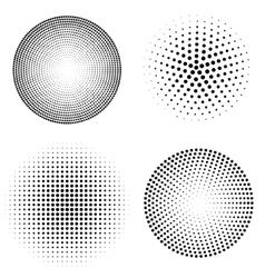 set of halftone spheres vector image vector image