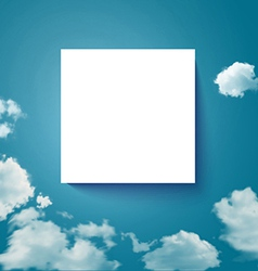 Sky with clouds page layout for Your business vector image