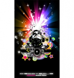 disco flyer vector image vector image