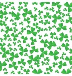 Green Cartoon Clover Leaves vector image