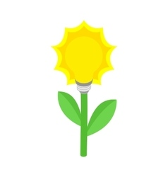 Plant with lamp bulb icon isometric 3d style vector image