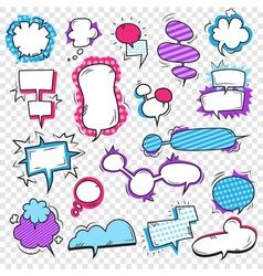 Pop Art Bubbles Set vector image
