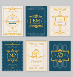 royal wedding design card templates with vector image