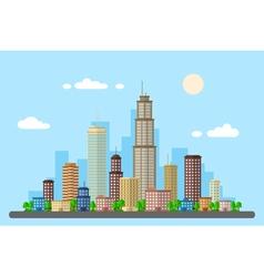 urban landscape 2 vector image