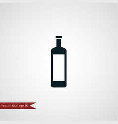 wine bottle icon simple vector image vector image