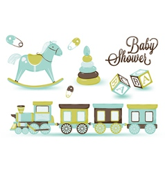 Childrens toys vector