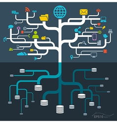 network file storage vector image vector image