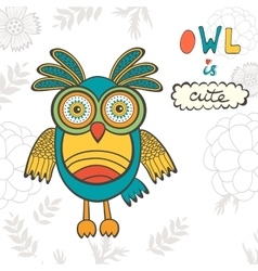 Owl is cute vector image vector image
