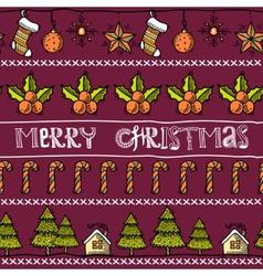 Sketch christmas card vector image vector image