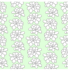 succulents seamless pattern for textile design vector image vector image