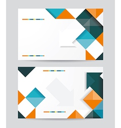 template design with cubes and arrows elements vector image vector image