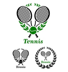 Tennis sporting emblem or logo vector image
