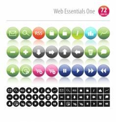 web essentials one vector image