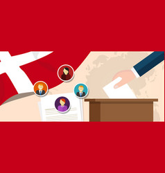 denmark democracy political process selecting vector image vector image