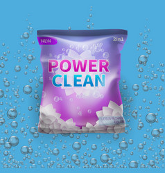 detergent design on bag package vector image vector image