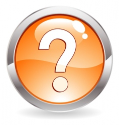 gloss button with question mark vector image vector image